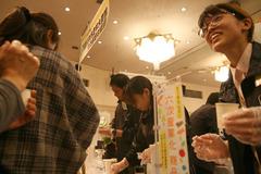 薩摩川内市の六次産業化の商品ブースにも多くの組合員が立ち寄り商品を知りました。