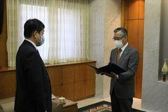 20年7月豪雨募金を鹿児島県へ贈呈しました。